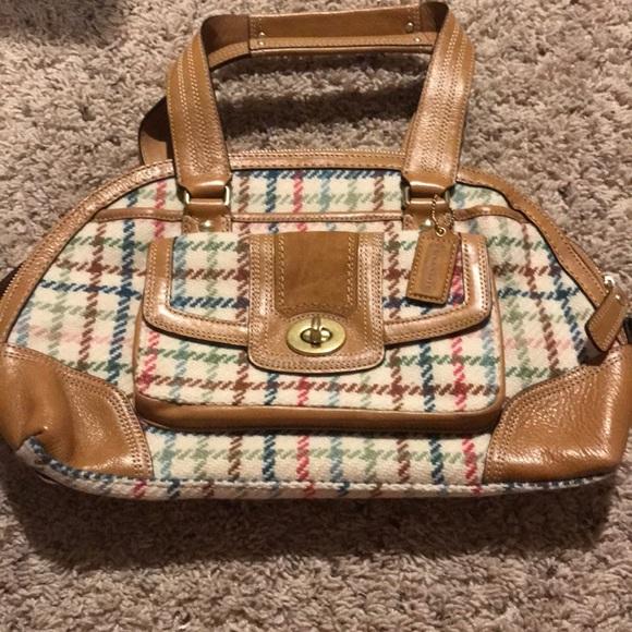 Coach Handbags - Coach plaid bag